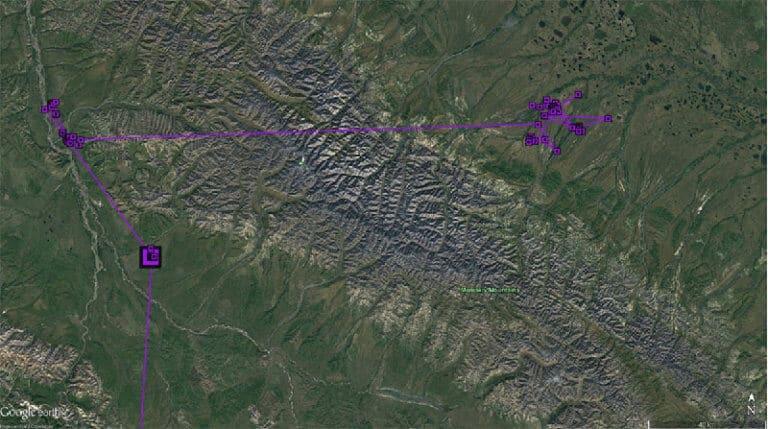KS flew across Momskiy Mountains