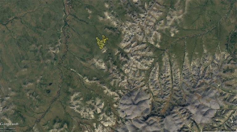 Figure 2a. Movement of KU around nesting location - Week 3: 21 Jun to 27 Jun