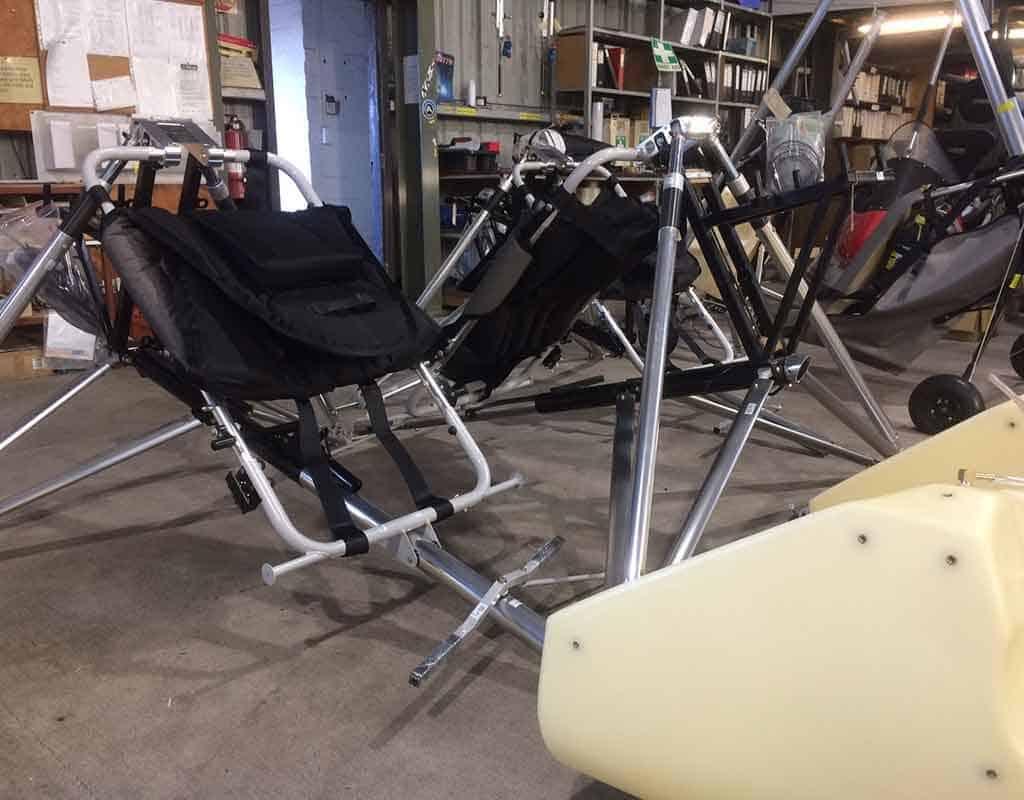 Assembling trike bases at Airborne
