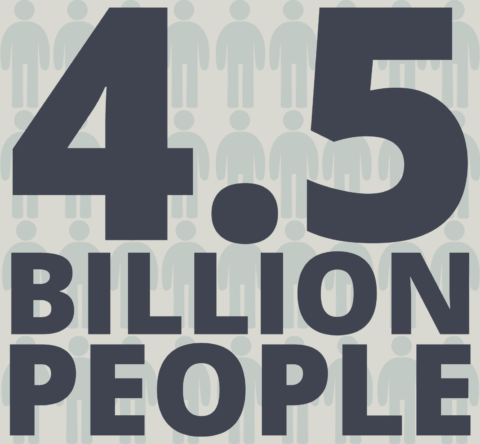 4.5 billion people