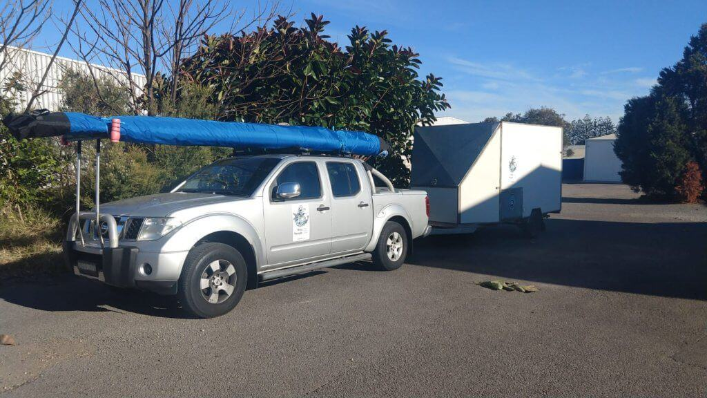 Navara with trailer