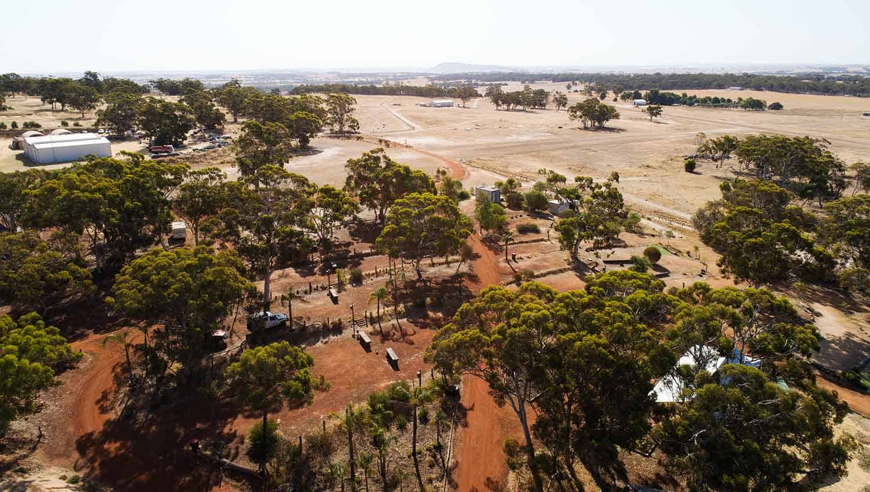 Aerial view of White Gum Farm