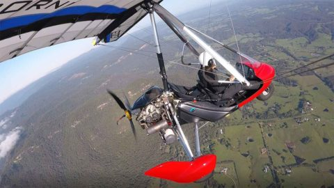 Me flying to Cessnock