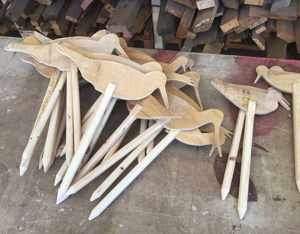 Shorebird cutouts ready to paint!